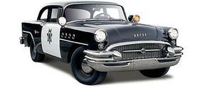 Maisto 1955 Buick Century California Highway Patrol (Black) Diecast Model Car 1/26 #31295blk