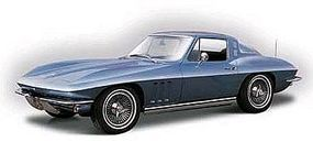 Maisto 1965 Chevrolet Corvette (Met. Blue) Metal Body Plastic Model Car Kit 1/18 Scale #31640blu