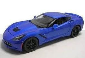 Maisto 2014 Corvette Stingray Z51 (Metallic Blue) Diecast Model Car 1/18 Scale #31677blu