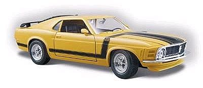 Maisto International 1970 Ford Boss Mustang (Yellow) -- Diecast Model Car -- 1/24 scale -- #31943ylw