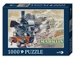 Marklin Marklin P8 Steam Locomotive Puzzle - 1000 Pieces Model Railroad Puzzle Print Sign #15962