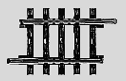 Marklin, Inc (bulk of 10) Bulk of 10 K Track - 1-3/8'' Straight -- HO Scale Nickel Silver Model Train Track -- #2208