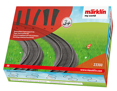 Marklin, Inc Plastic Track Extension Set -- HO Scale Nickel Silver Model Train Track -- #23300