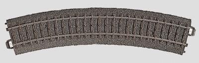 Marklin, Inc (bulk of 6) 3-Rail C Track R1 Curve 14-3/16'' 36cm Radius -- HO Scale Nickel Silver Model Train Track -- #24130