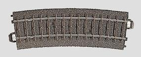 Marklin (bulk of 6) 3-Rail C Track - R2 Curve 17-1/4 Radius (6) HO Scale Nickel Silver Model Train Track #24215