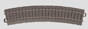 Marklin (bulk of 6) 3-Rail C Track R2 Curve 17-1/4 Radius HO Scale Nickel Silver Model Train Track #24224