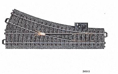 Marklin, Inc 3-Rail C Track - Right Hand Manual Turnout -- HO Scale Nickel Silver Model Train Track -- #24612