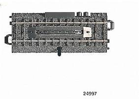 Marklin 3-Rail C Track - Electric Uncoupler Section HO Scale Nickel Silver Model Train Track #24997