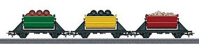 Marklin Dump Car 3-Pack - 3-Rail My World With Loads HO Scale Model Train Freight Car #44139