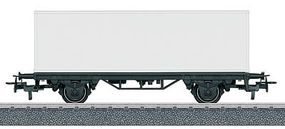 Marklin 2-Axle Container Car w/30 Container Paintable White HO Scale Model Train Freight Car #44810