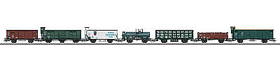 Marklin, Inc DRG Freight 7-Car Set -- HO Scale Model Train Freight Car Set -- #46085