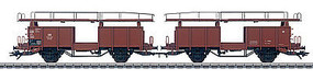 Marklin DB Auto Transport Car HO Scale Model Train Freight Car Set #46136