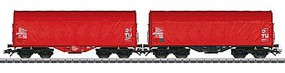 Marklin Type Shimmnss/Shimmns-tu 718 Sliding Tarp Car 3-Pack HO Scale Model Train Freight Car #47212