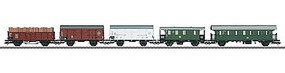 Marklin DB Era III Mixed Train 5-Car Set - 3-Rail HO Scale Model Train Freight Car #48816