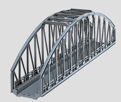 Marklin, Inc C Track Arched Bridge 14-3/16'' -- HO Scale Model Railroad Bridge -- #74636