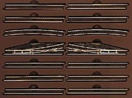Marklin E Extension Set w/Manual Turnouts Z Scale Nickel Silver Model Train Track #8190
