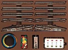 Marklin E Extension Set w/Electric Turnouts Z Scale Nickel Silver Model Train Track #8191