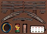 Marklin, Inc T2 Extension Set w/Electric Turnouts -- Z Scale Nickel Silver Model Train Track -- #8193