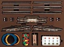 Marklin T3 Extension Set w/Electric Turnouts Z Scale Nickel Silver Model Train Track #8194