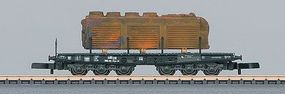 Marklin Class SSym 46 Heavy-Duty Flatcar w/Load German Federal Z Scale Model Train Freight Car #82702