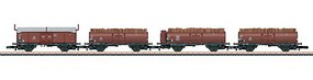 Marklin Wood Load Frt 4-Car Set - Z-Scale