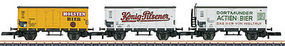 Marklin Beer 3-Car Set Z Scale Model Train Freight Car #86394