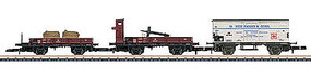 Marklin DB Freight 3-Car Set Ships Eq Z Scale Model Train Freight Car #86581