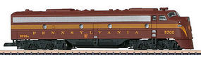 Marklin EMD E8 Pennsylvania Railroad (Tuscan, 5-Stripe) Z Scale Model Train Diesel Locomotive #88629