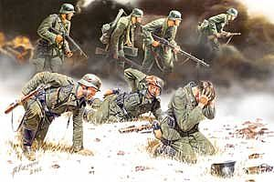 Master Box  Limited German PzGrenadiers Set #2 1939-42 (7) -- Plastic Model Military Figure -- 1/35 Scale -- #3518
