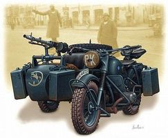 Master-Box WWII German Motorcycle with Sidecar Plastic Model Military Vehicle 1/35 Scale #3528