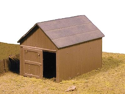Micro Engineering Small Shed -- Model Train Building -- HO-Scale -- #70605