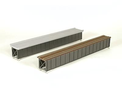 Micro Engineering Deck Girder Bridge w/Open Deck Kit 85' -- Model Train Bridge -- HO Scale -- #75505