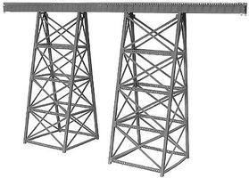 Micro-Engr Tall Steel Viaduct - 15 long x 8.1 high Model Train Bridge N Scale #75518