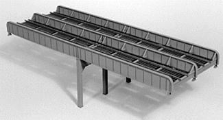 Micro Engineering 100' Through Girder Bridge - Double-Track -- Model Train Bridge -- HO Scale -- #75523