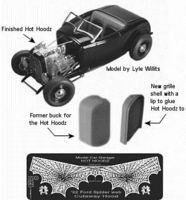 Model-Car-Garage 1932 Ford Spiderweb Hot Hoodz for RMX Plastic Model Vehicle Accessory Kit 1/25 Scale #2221