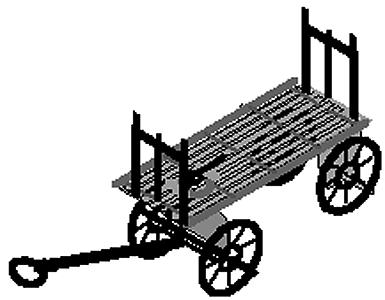Micron Art Baggage carts          4/ - Z-Scale (4)