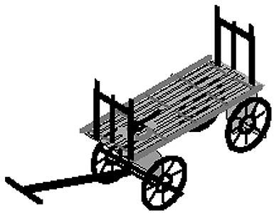 Micron Art Baggage carts          4/ - N-Scale (4)