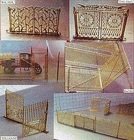 Micro-ArtMicron Set of Various Gates  11/ - HO-Scale (11)