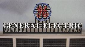 Micro-Structures General Electric Animated Neon Billboard N Scale Model Railroad Billboard #2782