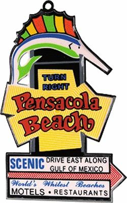 Micro Structures Pensacola Beach Animated Neon Christmas Ornament -- Model Railroad Mug Magnet Gift -- #331