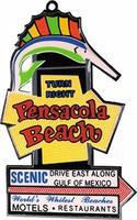 Micro-Structures Pensacola Beach Animated Neon Christmas Ornament Model Railroad Mug Magnet Gift #331
