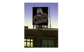 Micro-Structures National Bohemian (Natty Boh) Beer Animated Rooftop Billboard N Scale Model Railroad Sign #338845