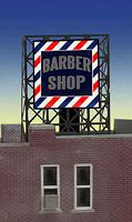 Micro-Structures Barber Shop Animated Rooftop Billboard N Scale Model Railroad Billboard Sign #338930
