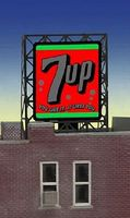 Micro-Structures 7UP Animated Rooftop Billboard Lattice Support Z Scale Model Railroad Billboard Sign #338945