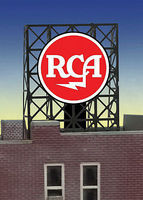 Micro-Structures RCA Flashing Neon Rooftop Billboard N Scale Model Railroad Billboard Sign #339000
