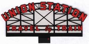 Micro-Structures Union Station Animated Neon Billboard HO Scale Model Railroad Sign #3881