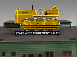 Micro-Structures BULLDOZER COMBO SIGN R/L HO Scale Model Railroad Billboard Sign #3980