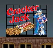 Micro-Structures Cracker Jack Animated Small Neon Billboard HO Scale Model Railroad Sign #440102