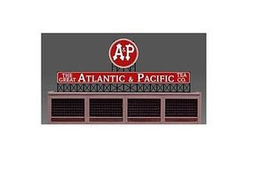 Micro-Structures Atlantic & Pacific Tea Small Animated Neon Billboard HO Scale Model Railroad Sign #440152