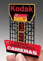 Micro-Structures Kodak Animated Neon Rooftop Billboard HO Scale Model Railroad Sign #440902